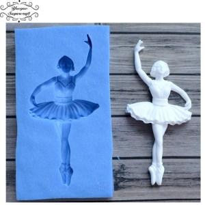 Sugar craft Dancer Silicone mold fondant
