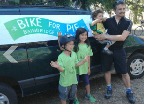 There's a family-friendly route and 120 children participated in last year's Bike for Pie
