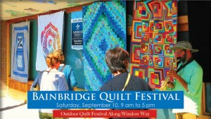 Bainbridge Quilt Festival 2016 Ferry Ad - Slide 1