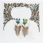 <i>Podcast: Arts and Artists:</i> <br>Bird feather artistry of Chris Maynard captivates Art Museum patrons