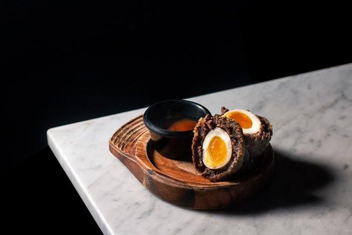 Black rock scotch eggs