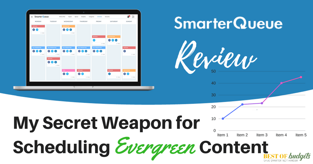 SmarterQueue Review- My Secret Weapon for Scheduling Evergreen Content