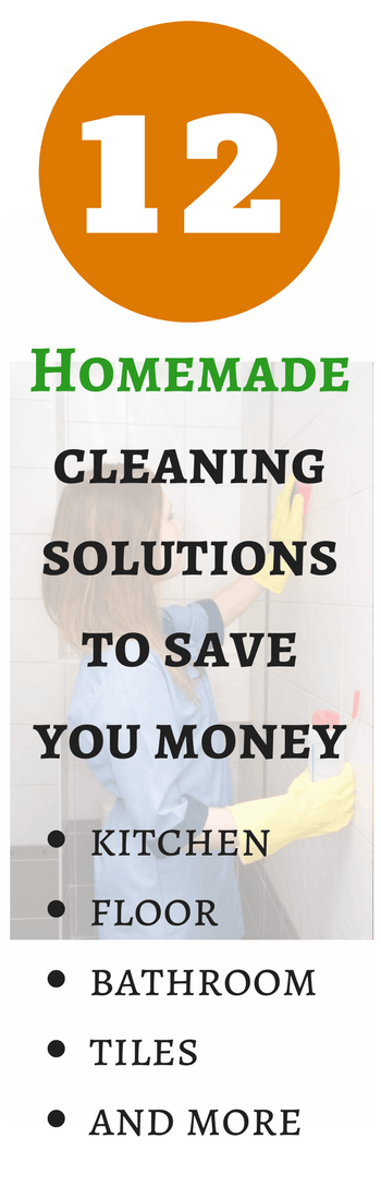 12 Homemade Cleaning Solutions to Save You Money...and the Environment.