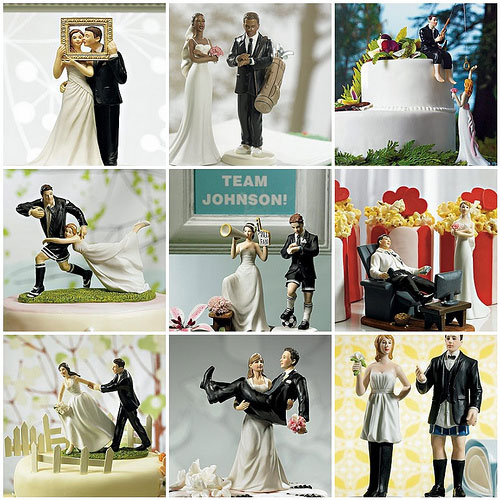 Funny Cake Topper for Wedding Cakes
