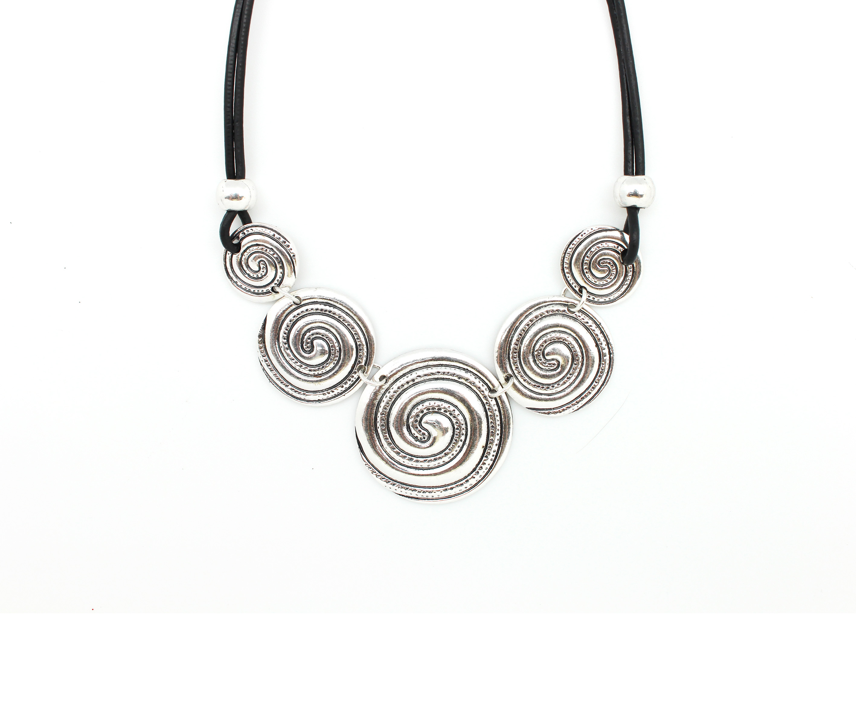 Lots Of Swirls Cord Necklace