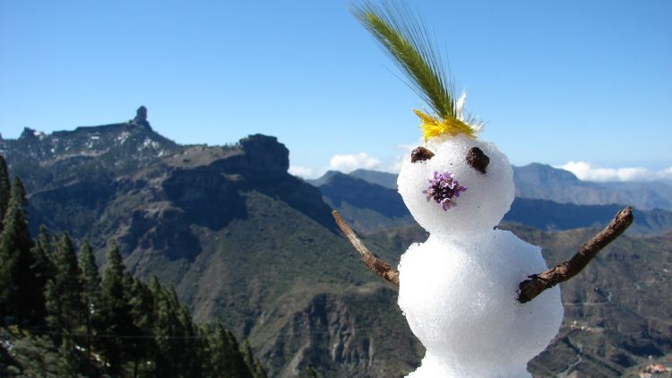 muñeco de nieve cumbre gran canaria