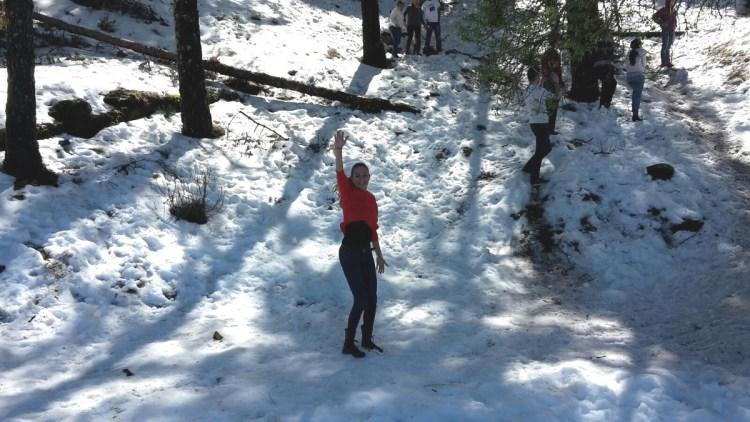 nieve en la cumbre de gran canaria