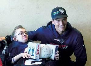 Aaron Cortese with Tom Brady