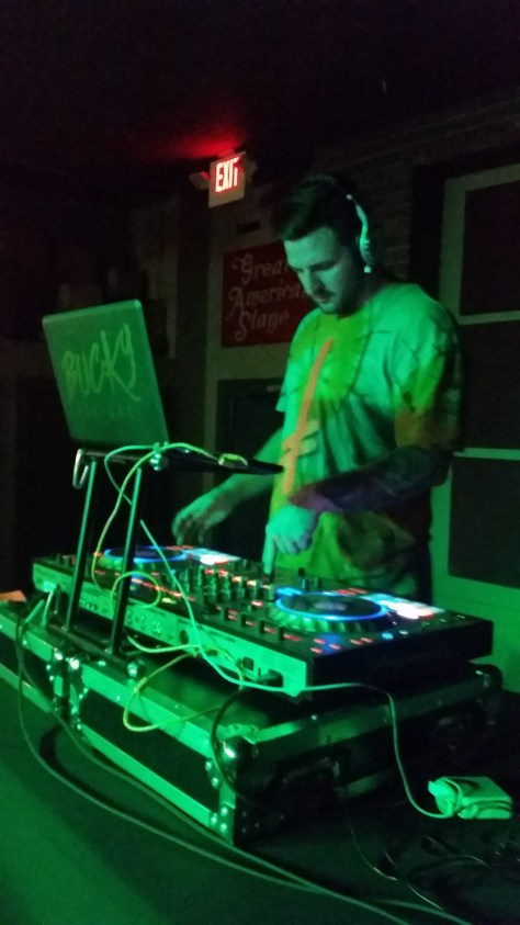 Bucky Dun Gun DJ playing at The Dip in Redding CA on St Patty's day 2016