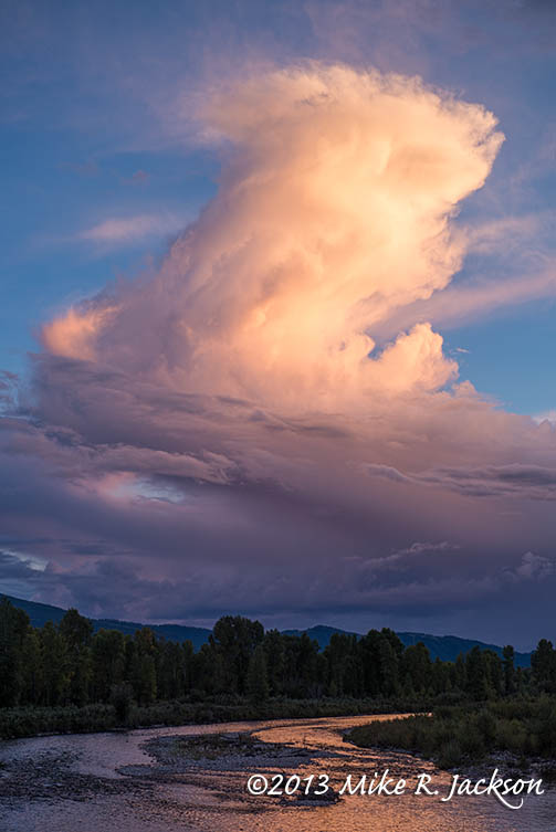 Evening Cloud Over the Gros Ventre