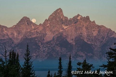 Grand Tetons Moon Set Sept30