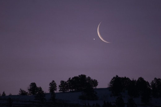 Venus and Crescent Moon