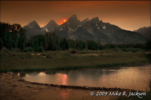 Red Sun at Schwabacher Landing