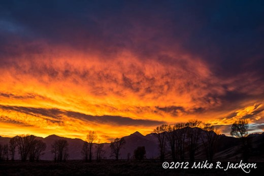 Fiery Sky Along the Gros Ventre