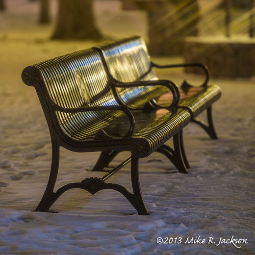 Christmas Park Bench Dec15