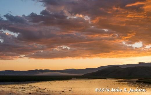 Sunrise Over Flat Creek