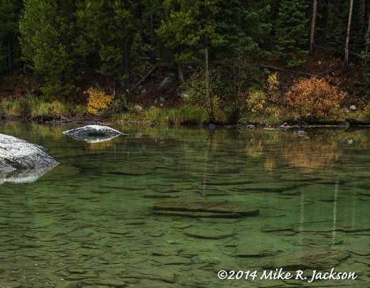 String Lake Underwater Rocks
