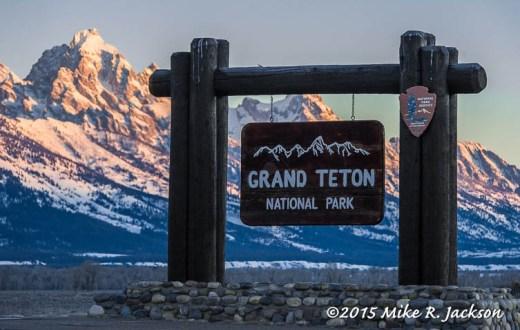 GTNP Entry Sign