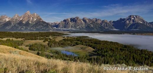 Teton Range above Hedrick Pond