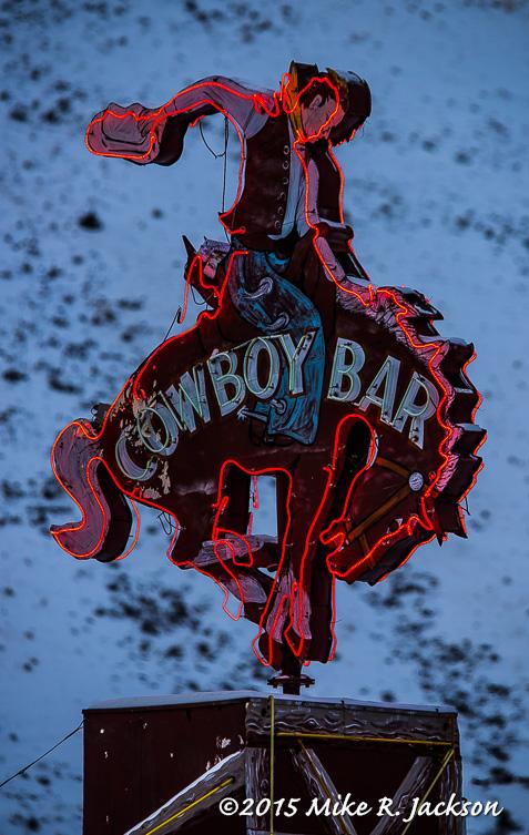 Cowboy Bar Sign