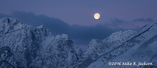 Moonset Over Death Canyon