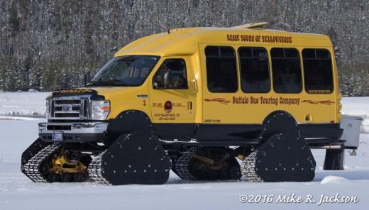 Yellowstone Winter Tour Bus
