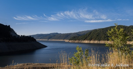 Wispy Clouds over Palisades Reservoir