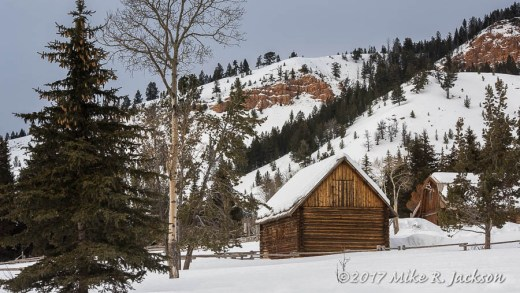 Barn and Red Rocks