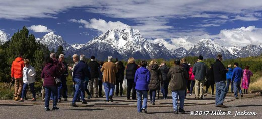 Oxbow Bend Tourists