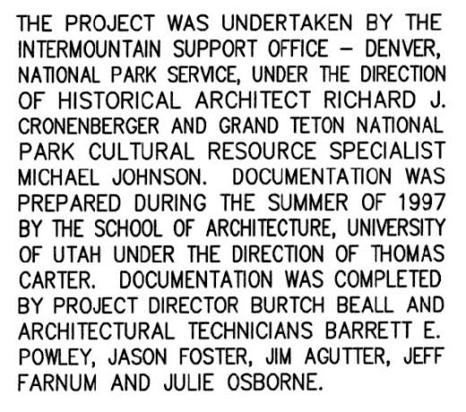 John Moulton Homestead Project Info