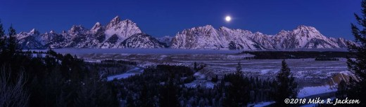 Full Moon Over Snake River Overlook