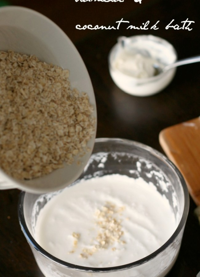 oatmeal coconut milk bath