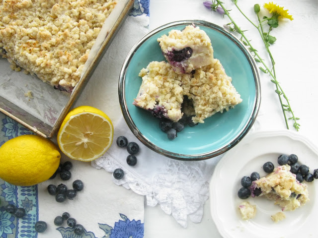 Gluten-Free Blueberry Lemon Squares