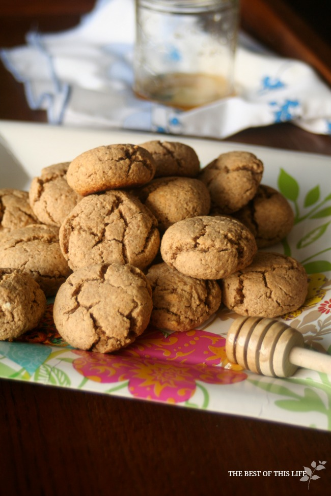 Gluten-Free Healthy Honey Cookies www.bestofthislife.com