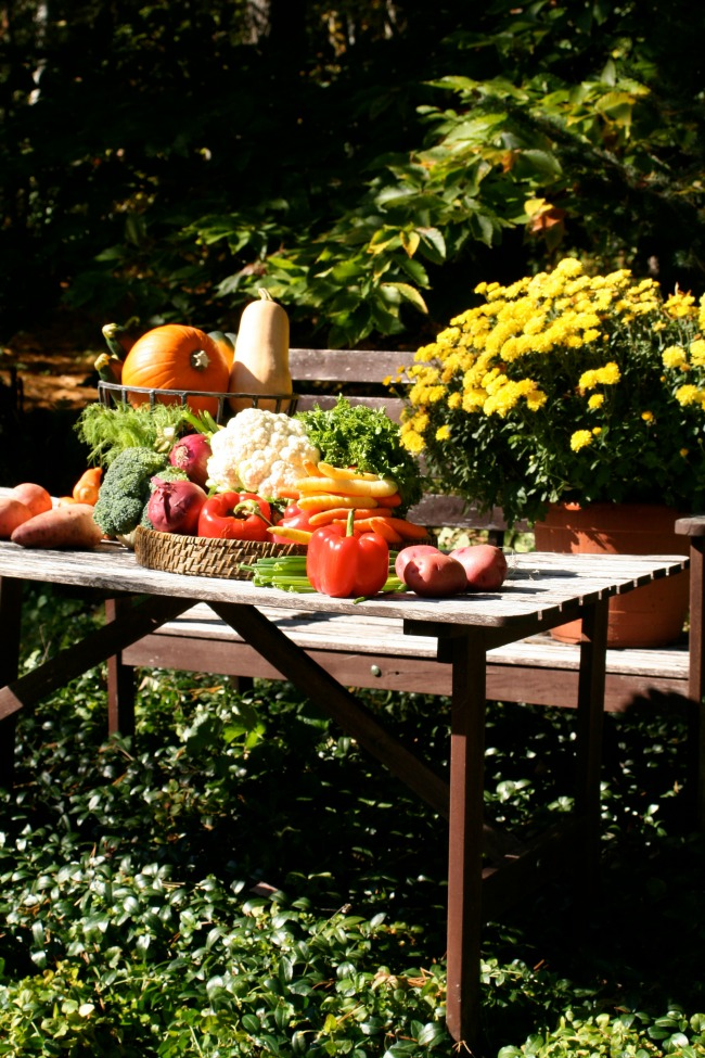 Autumn Vegetable Table www.bestofthislife.com
