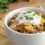 A Hearty White Bean and Chicken Chili from Eat. Drink. Love.