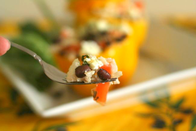 Rice & Vegetable Stuffed Peppers | The Best of this Life #vegetarian #healthy #cleaneating