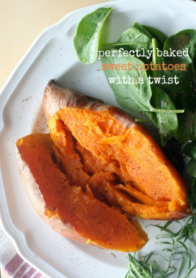 Perfectly Baked Sweet Potatoes with a Twist