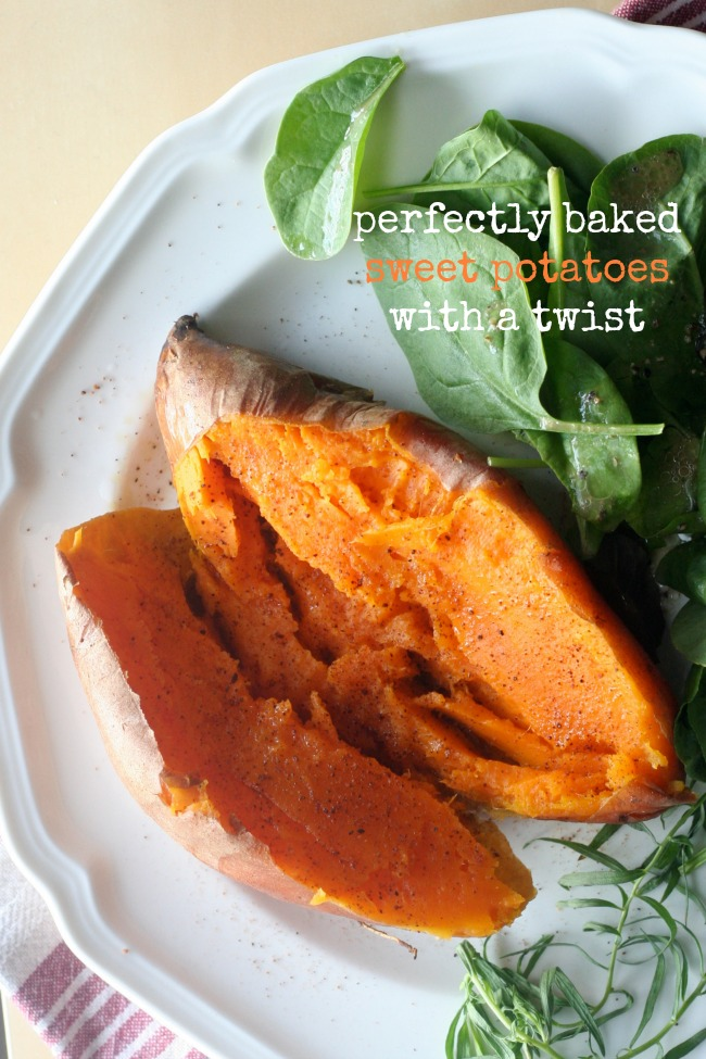 Perfectly Baked Sweet Potatoes with a Twist #vegan #vegetarian #sides