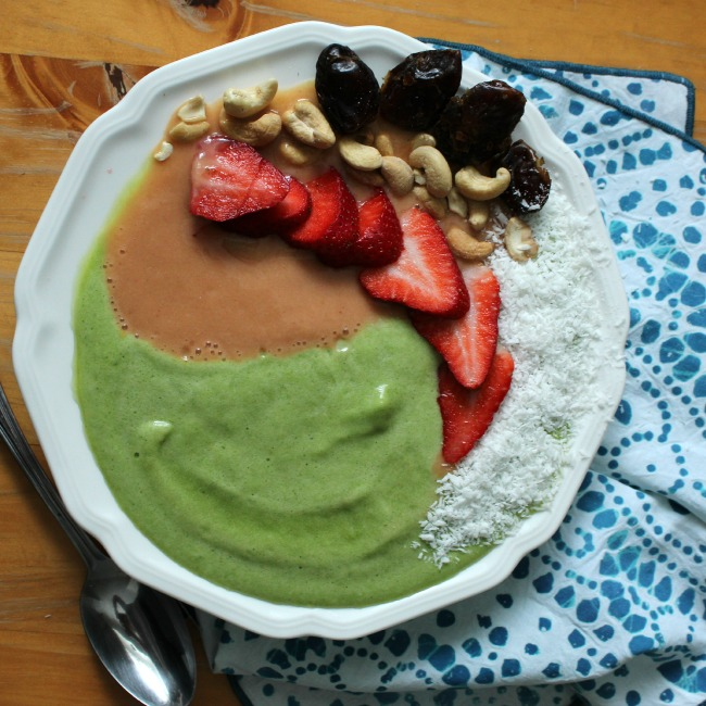 Mango Melon Green Smoothie Bowl