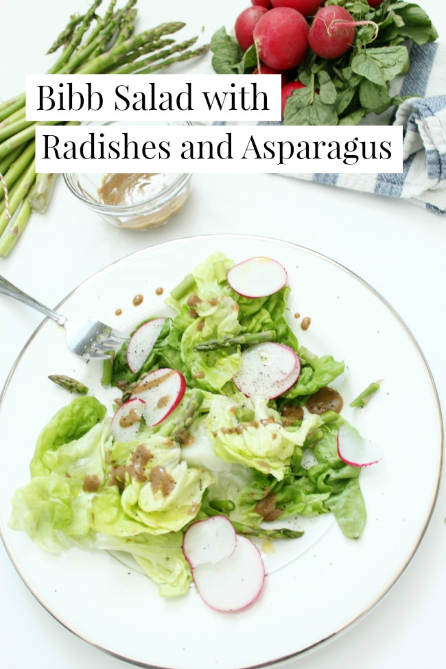 Bibb Salad with Radishes and Asparagus
