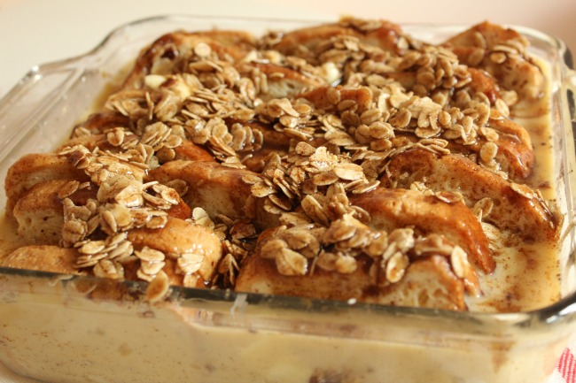 Preparing French Toast Casserole