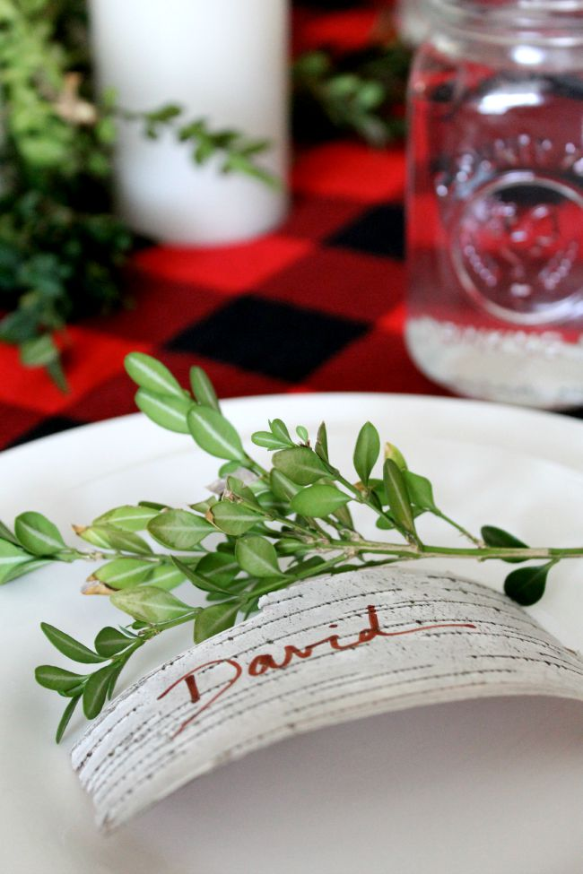 Buffalo Plaid, Greenery, Mason Jars Fall Table Setting