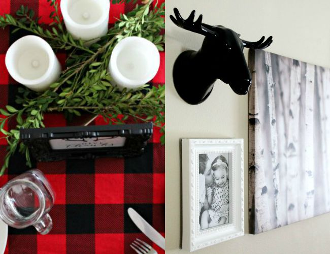 Fall Home Decor Ideas For Less with Giant Tiger buffalo plaid, woodland