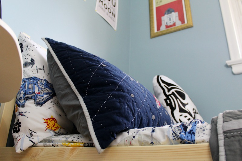 Star Wars Boys Room Makeover featuring bedding from Pottery Barn Kids