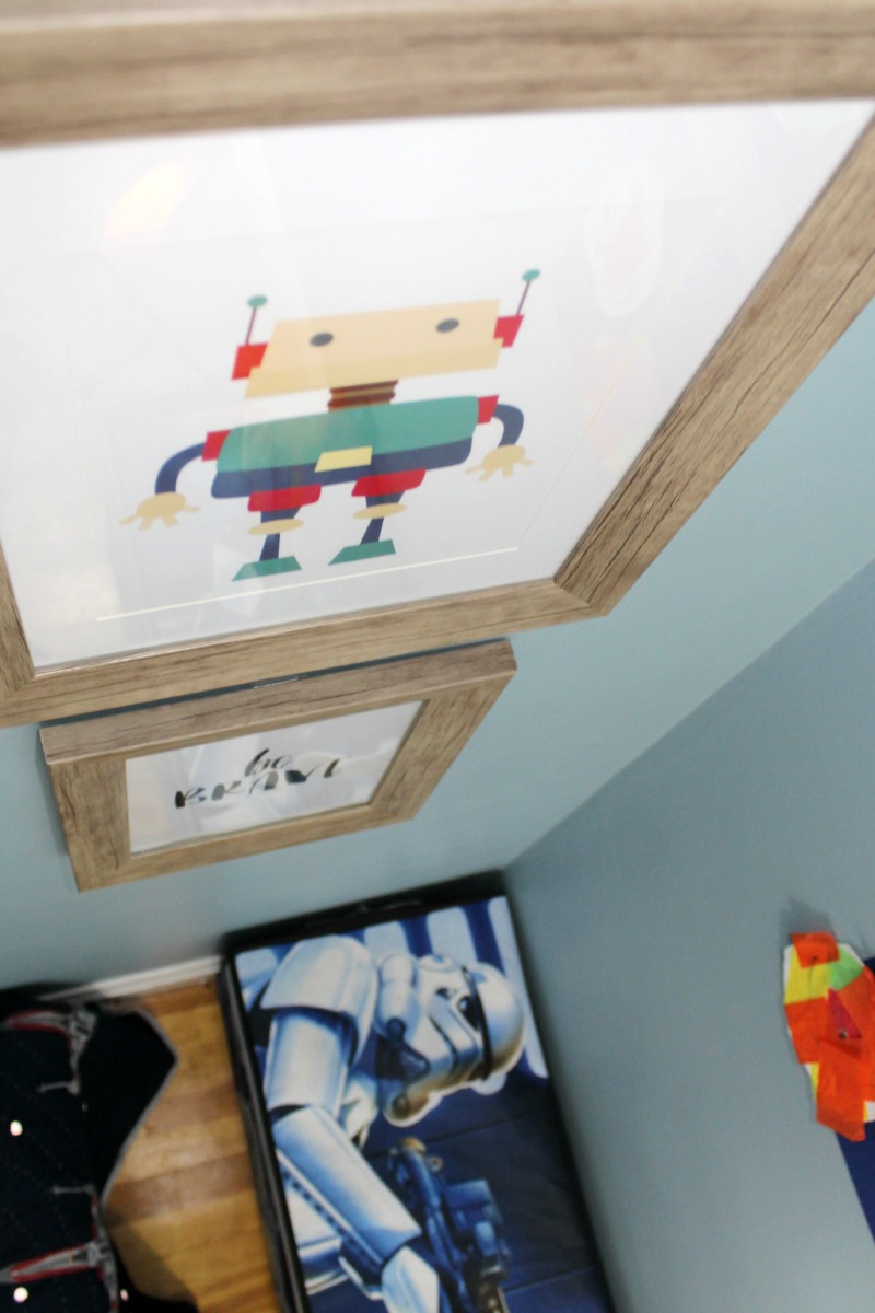 Star Wars Boys Room Makeover featuring robot picture