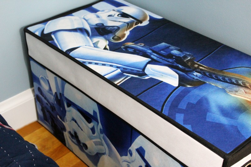 Room Makeover And A Box Bed: Star Wars Theme Big Boy Room Makeover
