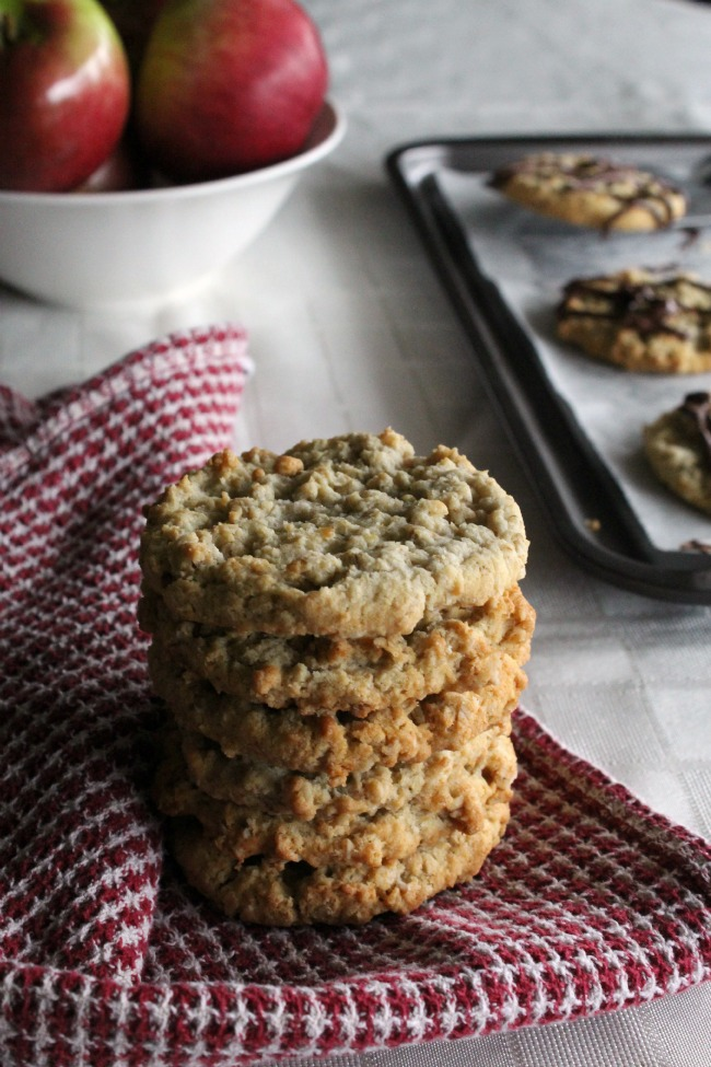 Caramel Apple Oatmeal Cookies GF