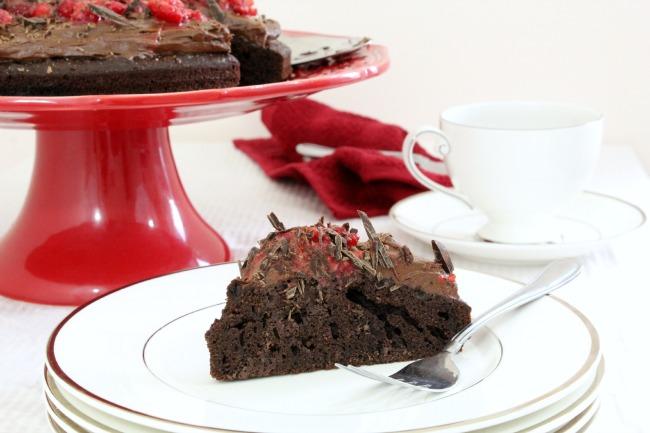 Slice of Gluten-Free Chocolate Cake