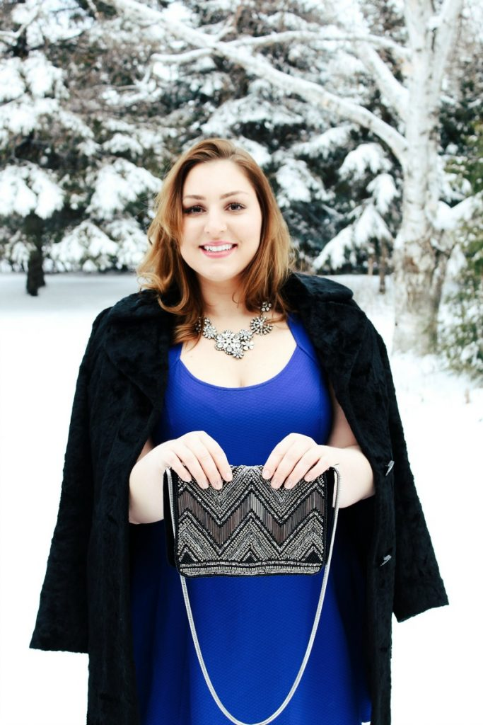 Winter Dressing Blue Black Silver